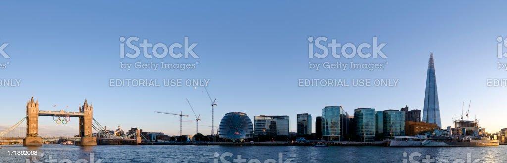 Tower Bridge 2012 London Olympics Panorama stock photo