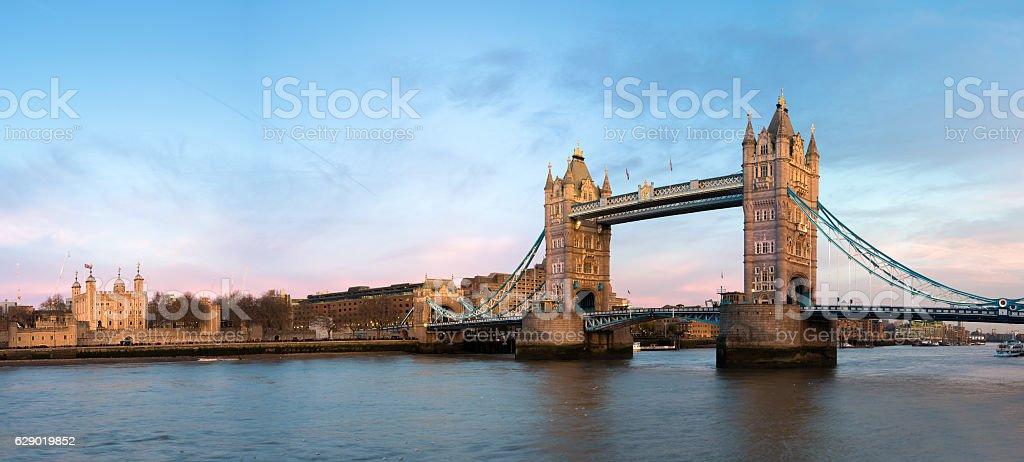 Tower Bridge across the River Thames stock photo