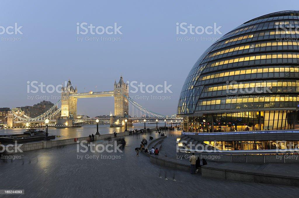 Tower Bridge and city Hall. London England. royalty-free stock photo