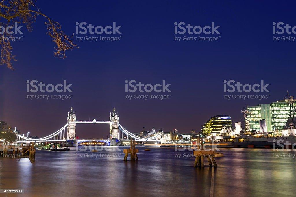 Tower Bridge and City Hall royalty-free stock photo