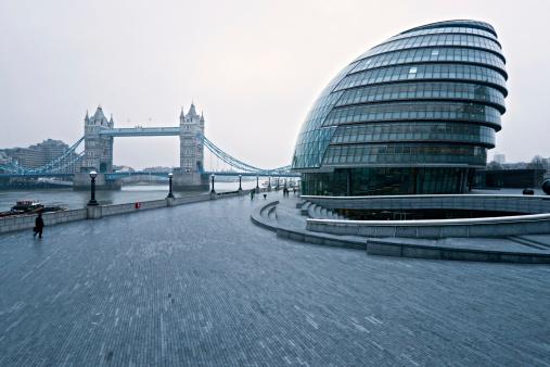 Tower Bridge and london city Hall.