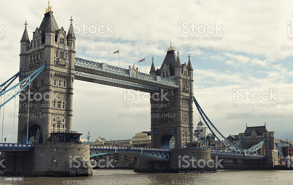 Tower Bridge and river thames royalty-free stock photo