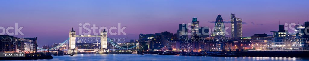 Tower Bridge and the London City Skyline UK royalty-free stock photo