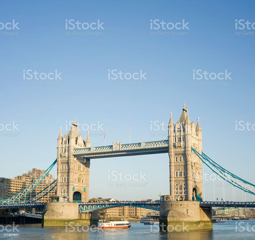 Tower Bridge and the River Thames in London UK royalty-free stock photo