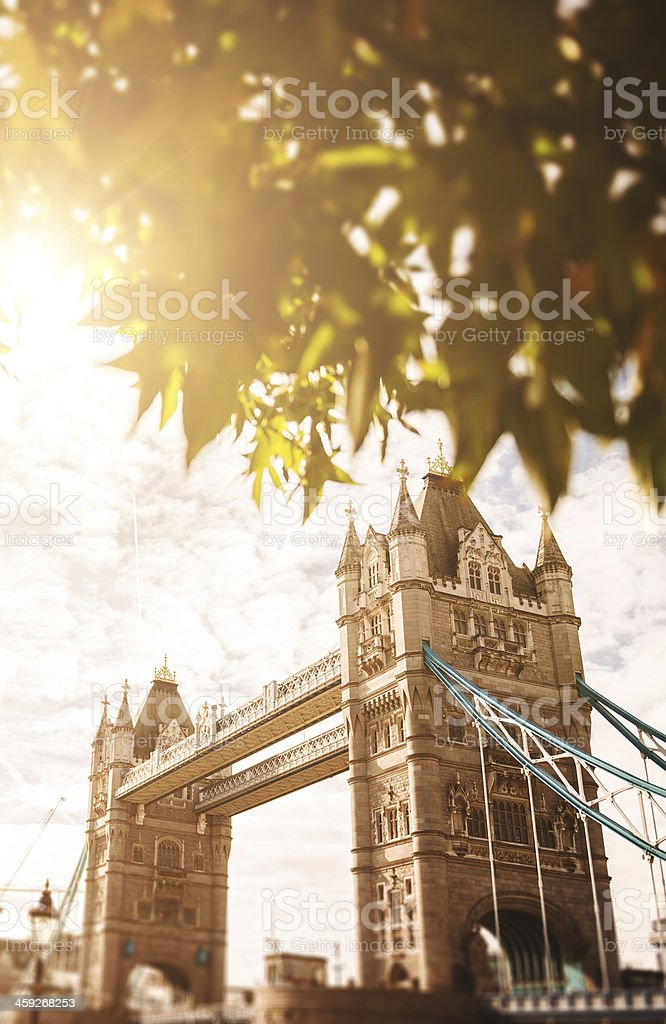 Tower bridge at sunset in London royalty-free stock photo