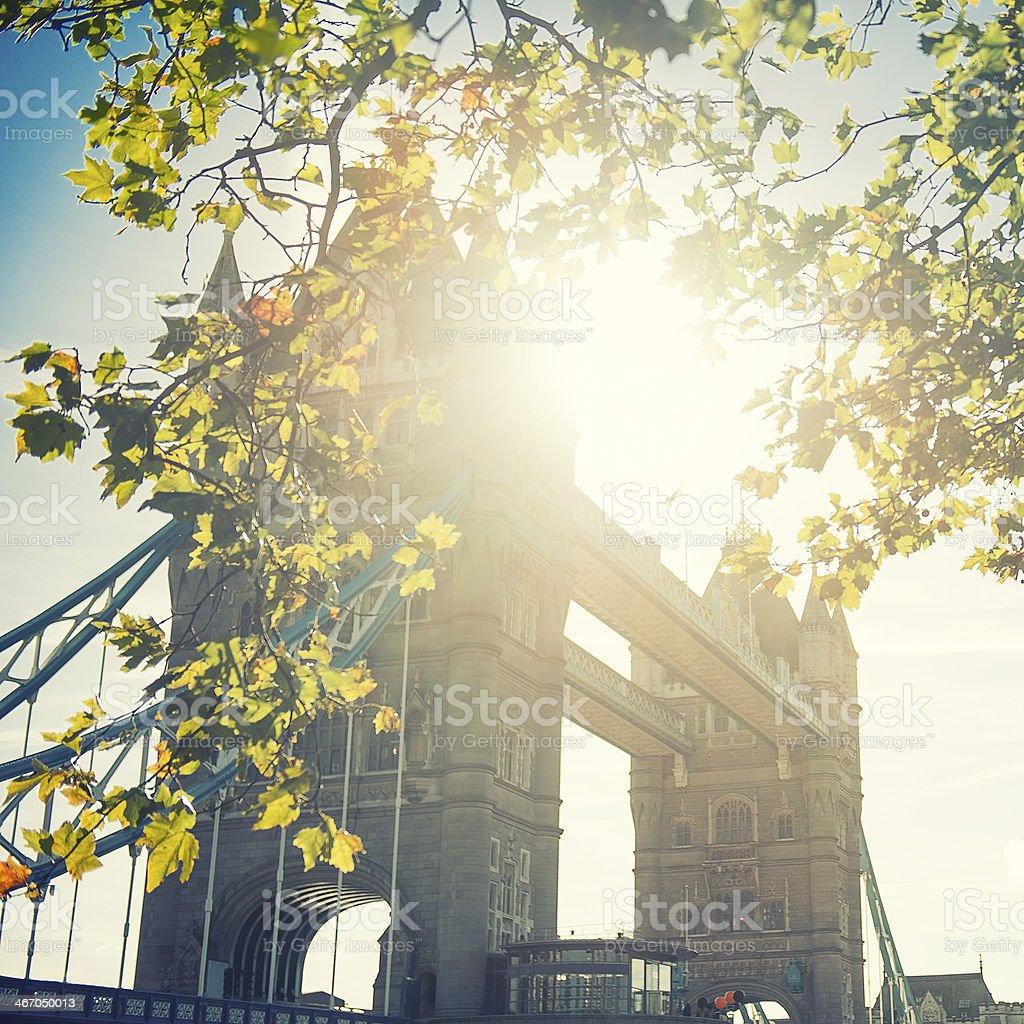 Tower bridge at sunset in London royalty-free stock photo