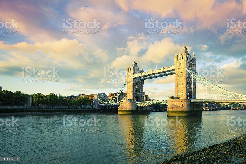 Tower Bridge at Sunset, London Landmark royalty-free stock photo