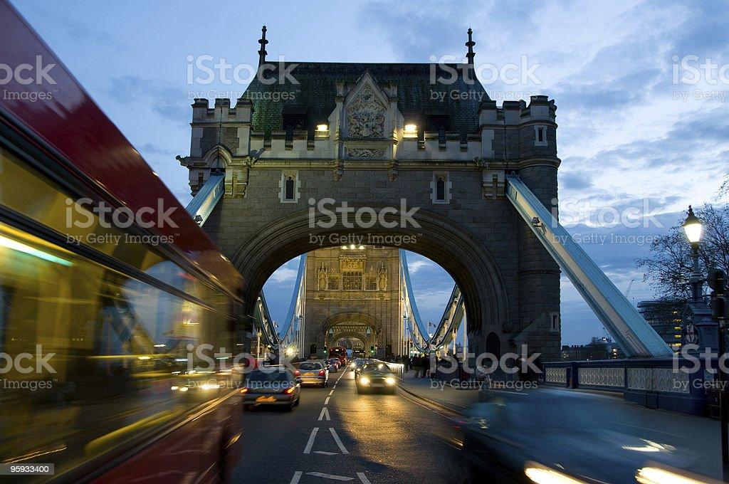 Tower bridge by night royalty-free stock photo