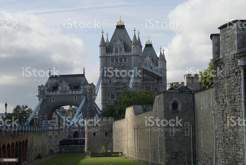Tower bridge from the rear royalty-free stock photo