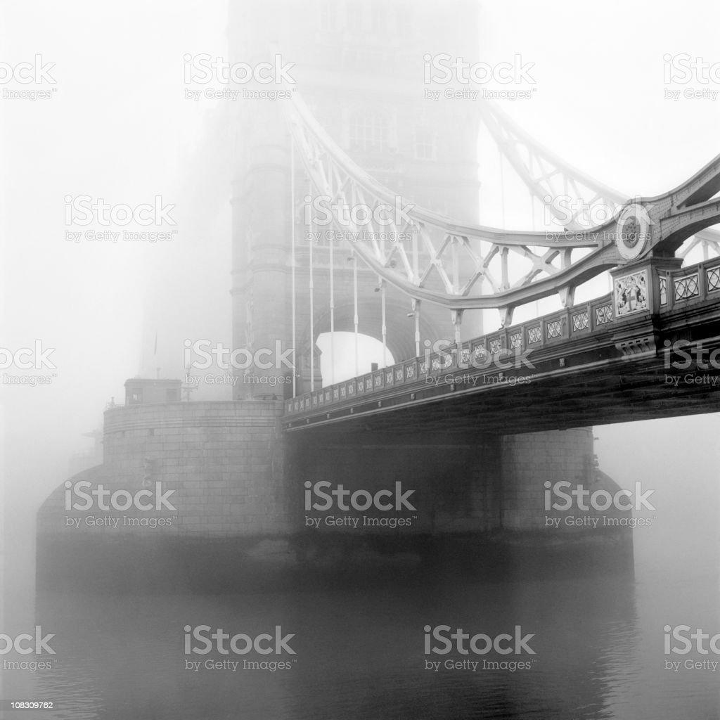 Tower Bridge in Fog royalty-free stock photo