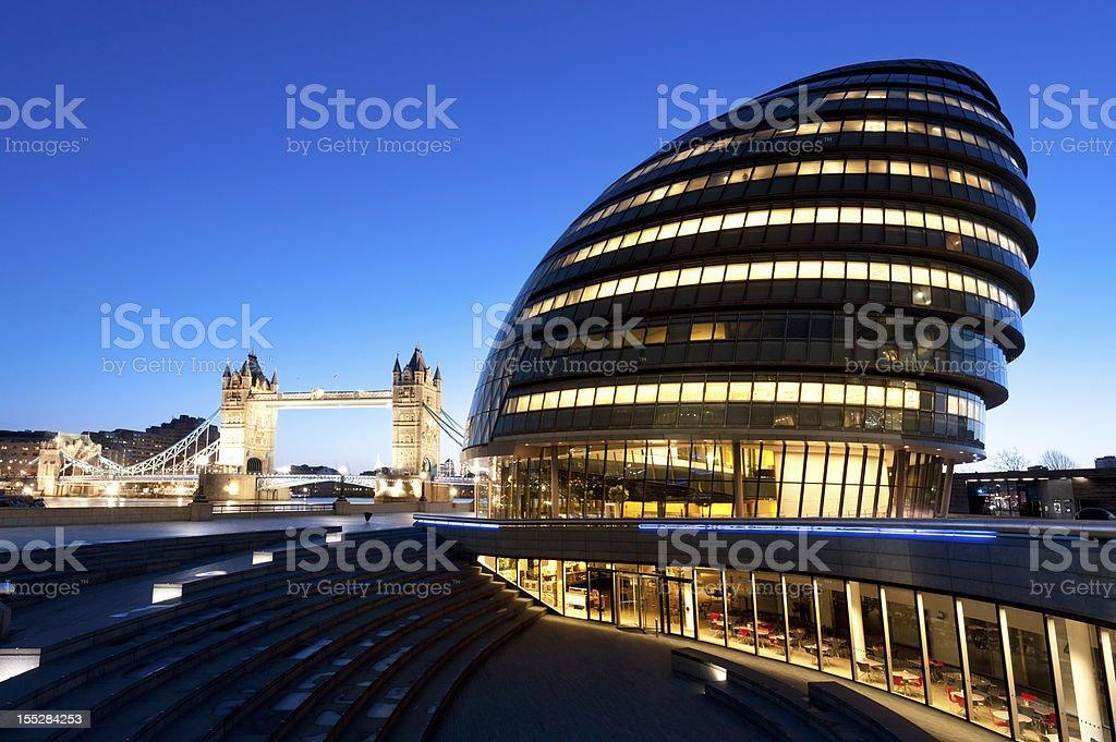 Tower bridge in London, England at dusk royalty-free stock photo