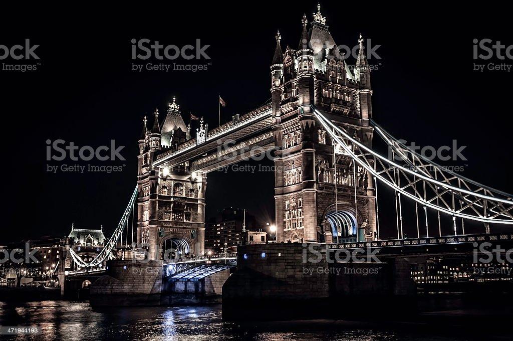 Tower Bridge in London, England at night - III royalty-free stock photo