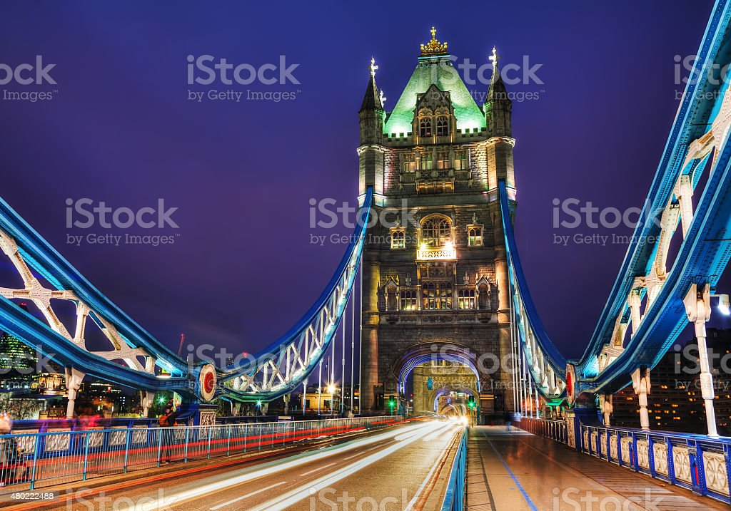 Tower bridge in London, Great Britain stock photo