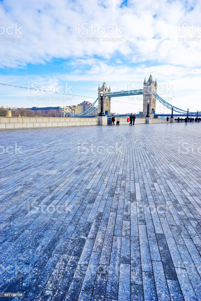 Tower Bridge in London on a sunny day stock photo