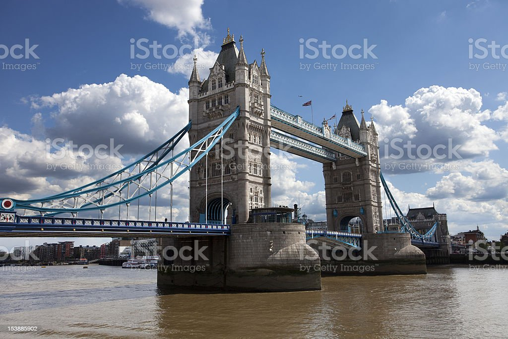 Tower Bridge in London, UK royalty-free stock photo