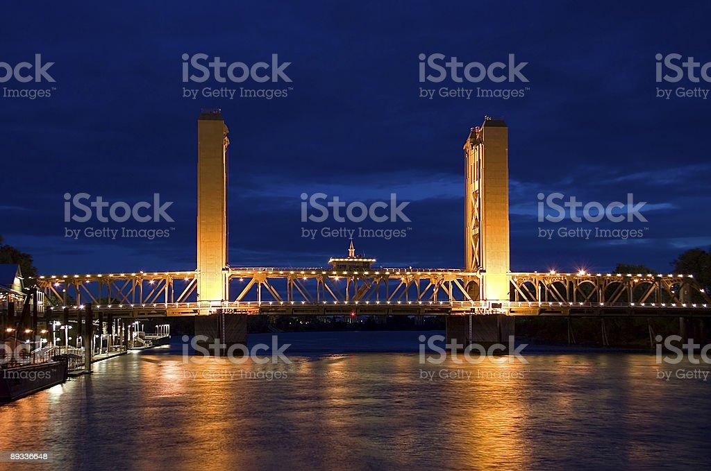 Tower Bridge in Sacramento royalty-free stock photo