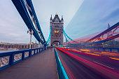 Tower Bridge Light Trail