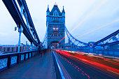 Tower Bridge Light Trail, London