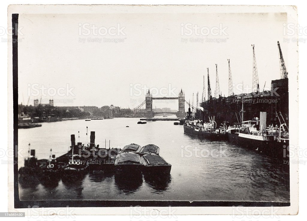 Tower Bridge London 1920 stock photo