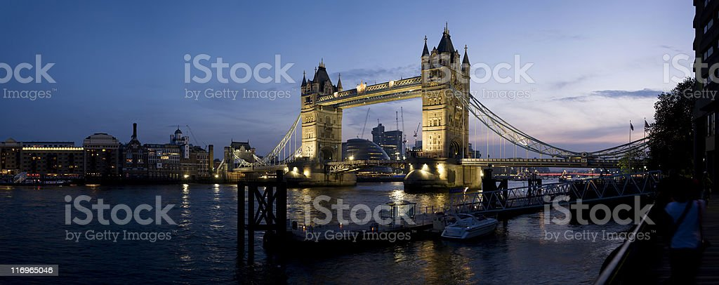 Tower Bridge, London, at Dusk (XXL+) royalty-free stock photo