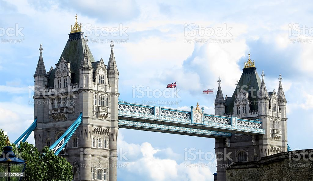 Tower Bridge, London by day stock photo