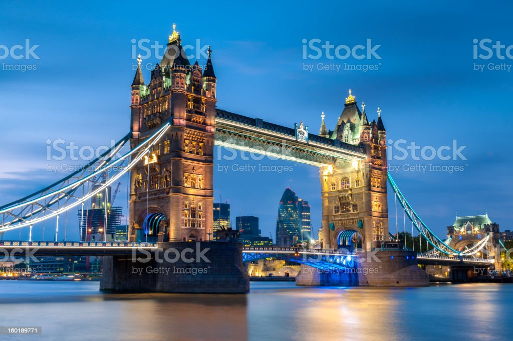 Tower Bridge, London, England stock photo
