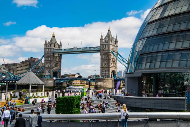 Tower Bridge London in Summer stock photo