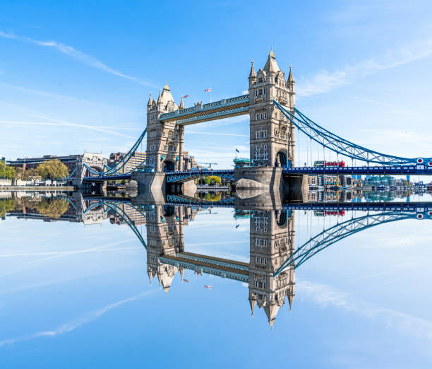 Tower Bridge on a bright sunny day City of London, England, Europe, Greater London, Inner London tower bridge stock pictures, royalty-free photos & images