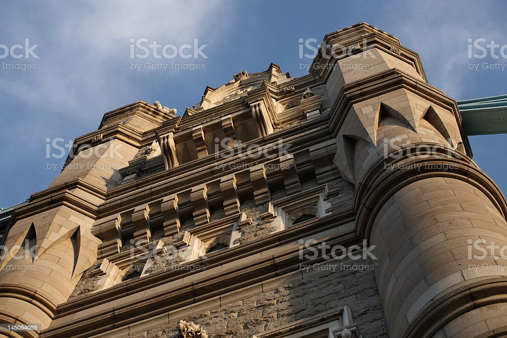 Tower Bridge on a sunny afternoon (detail) royalty-free stock photo
