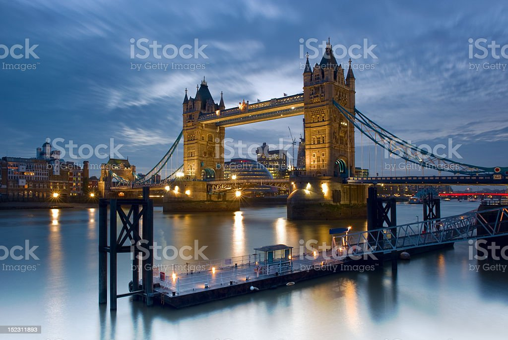 Tower Bridge on the River Thames - London, England royalty-free stock photo