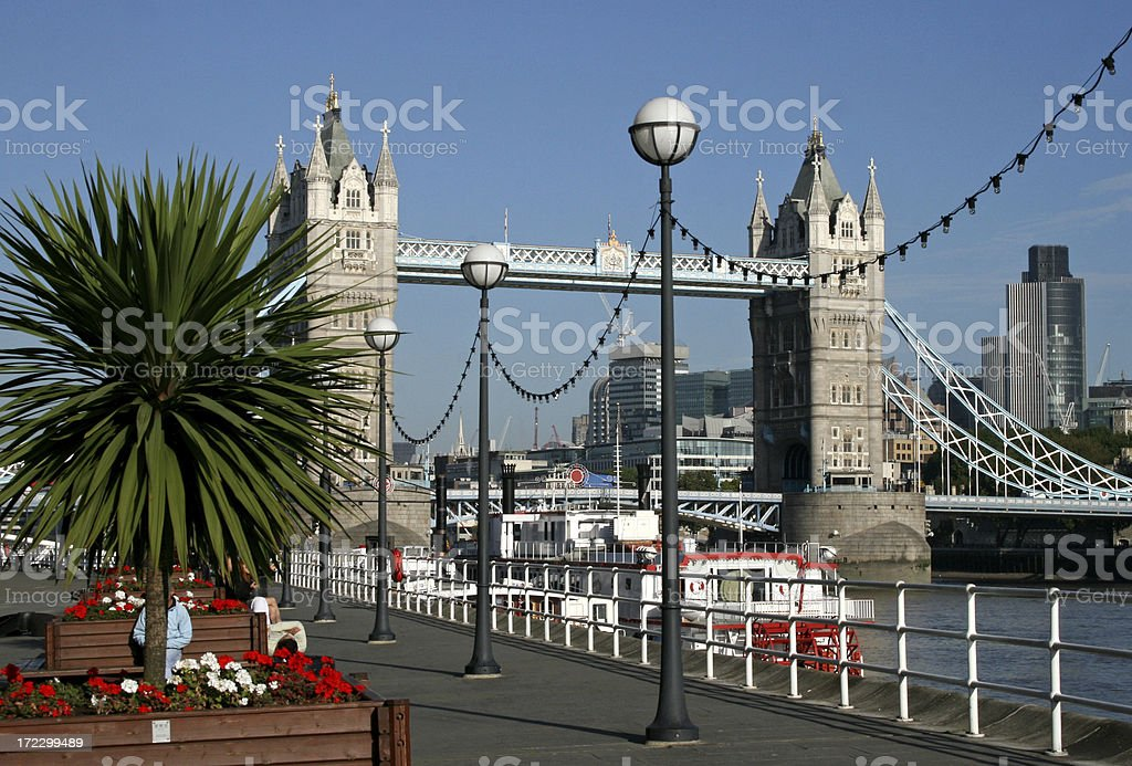 Tower Bridge over River Thames London royalty-free stock photo