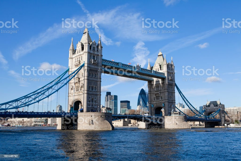 Tower Bridge over River Thames, London UK XXXL stock photo