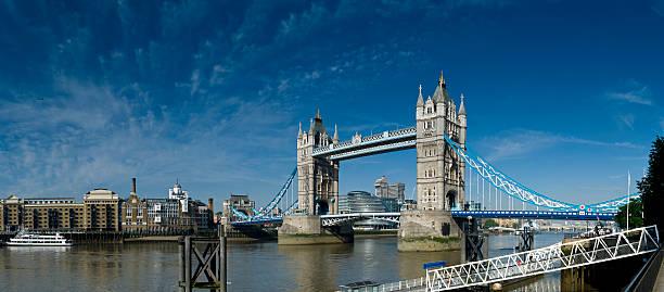 Tower Bridge panorama, London stock photo