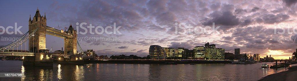 Tower Bridge panorama royalty-free stock photo
