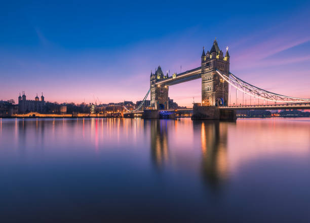 Tower Bridge Tower Bridge in London, captured in dawn tower bridge stock pictures, royalty-free photos & images