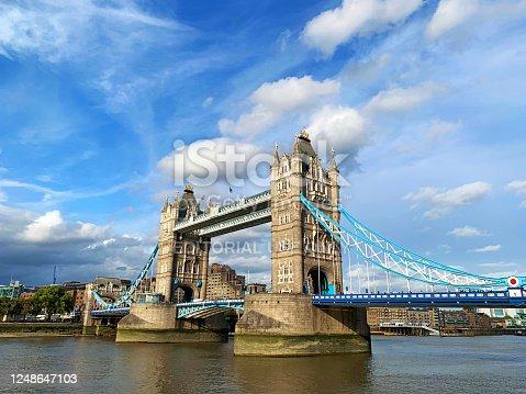 Spectacular Tower Bridge on the Thames river, iconic symbol of London, United Kingdom.