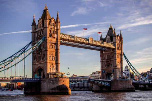 Tower Bridge Tower Bridge in London, United Kingdom. bascule bridge stock pictures, royalty-free photos & images