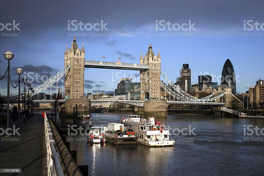Tower Bridge with atmospheric sky royalty-free stock photo