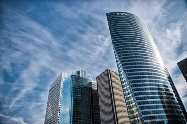 Tower building edf, La Defense, France stock photo
