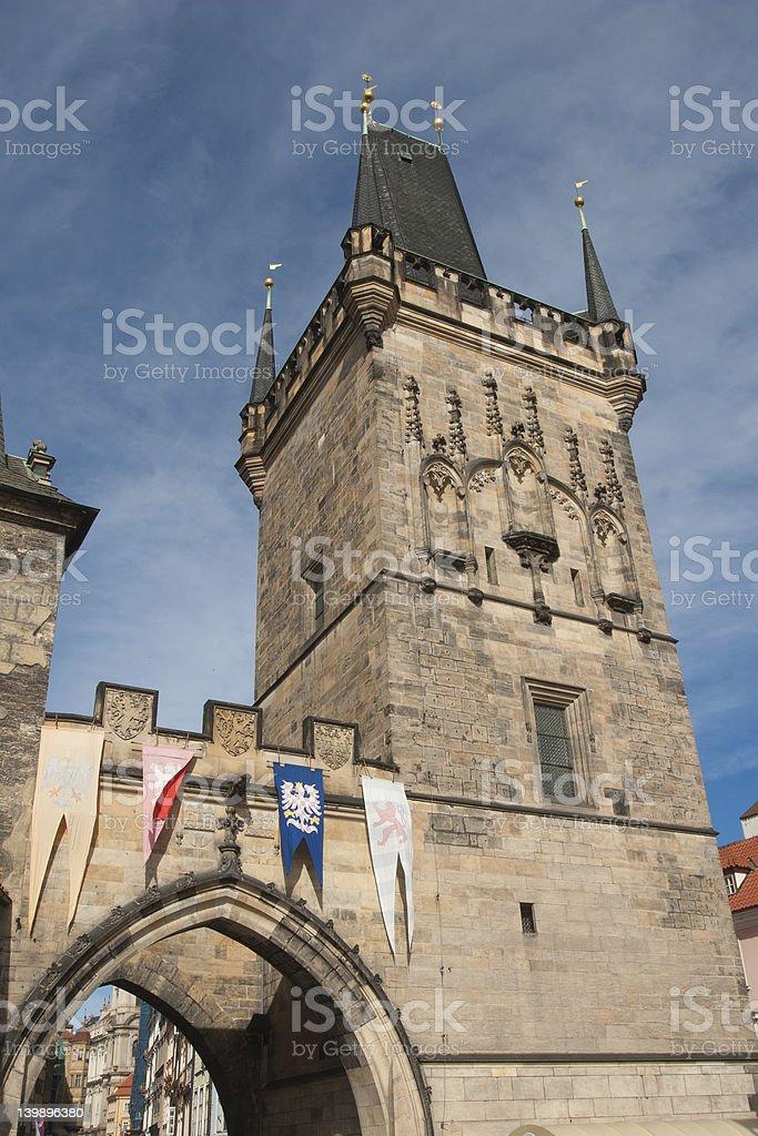 Tower Charles Bridge, Prague royalty-free stock photo