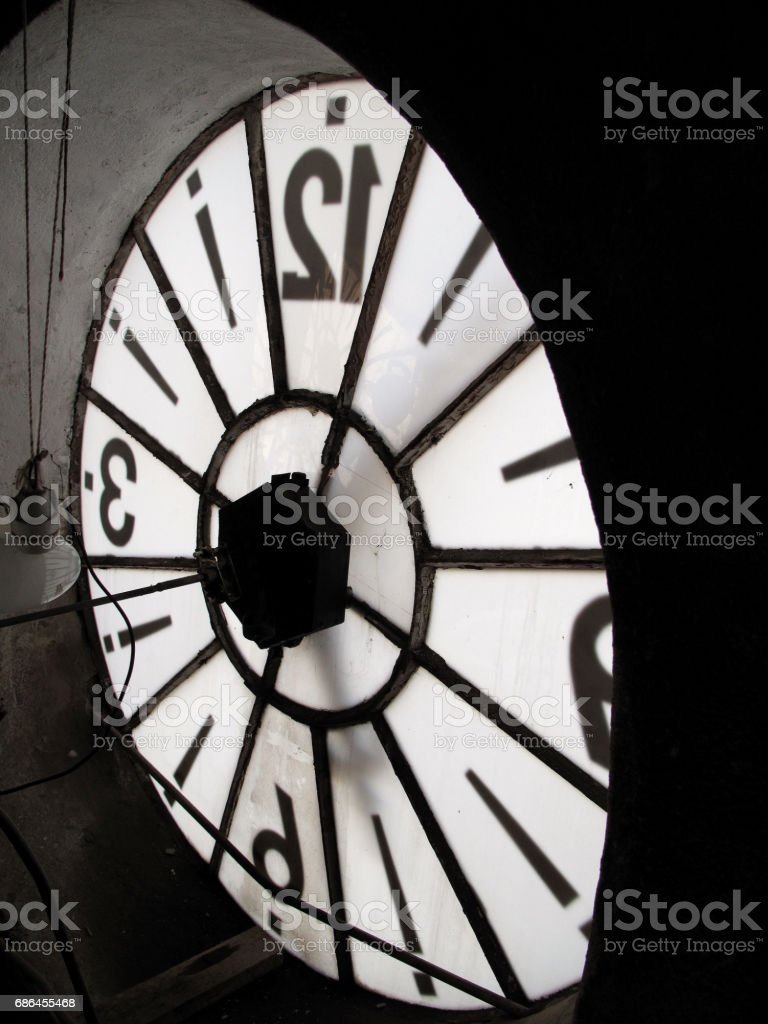 Tower Clock View From Inside Stock Photo & More Pictures of