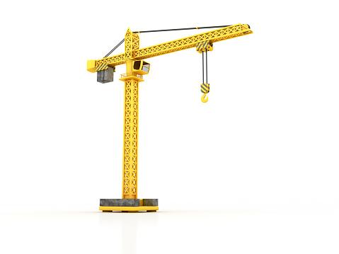 Tower Crane - 3D Rendering
