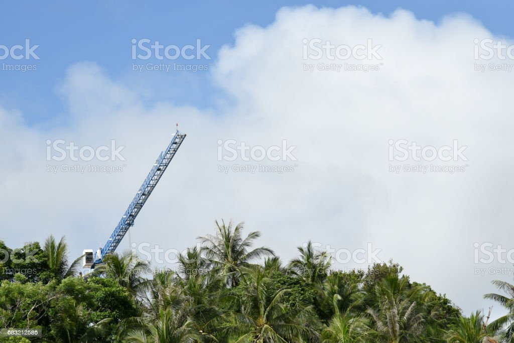 tower crane a tree royalty-free stock photo