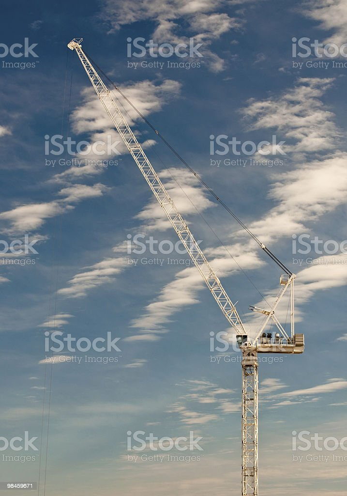 Tower Crane at a Construction Site royalty-free stock photo