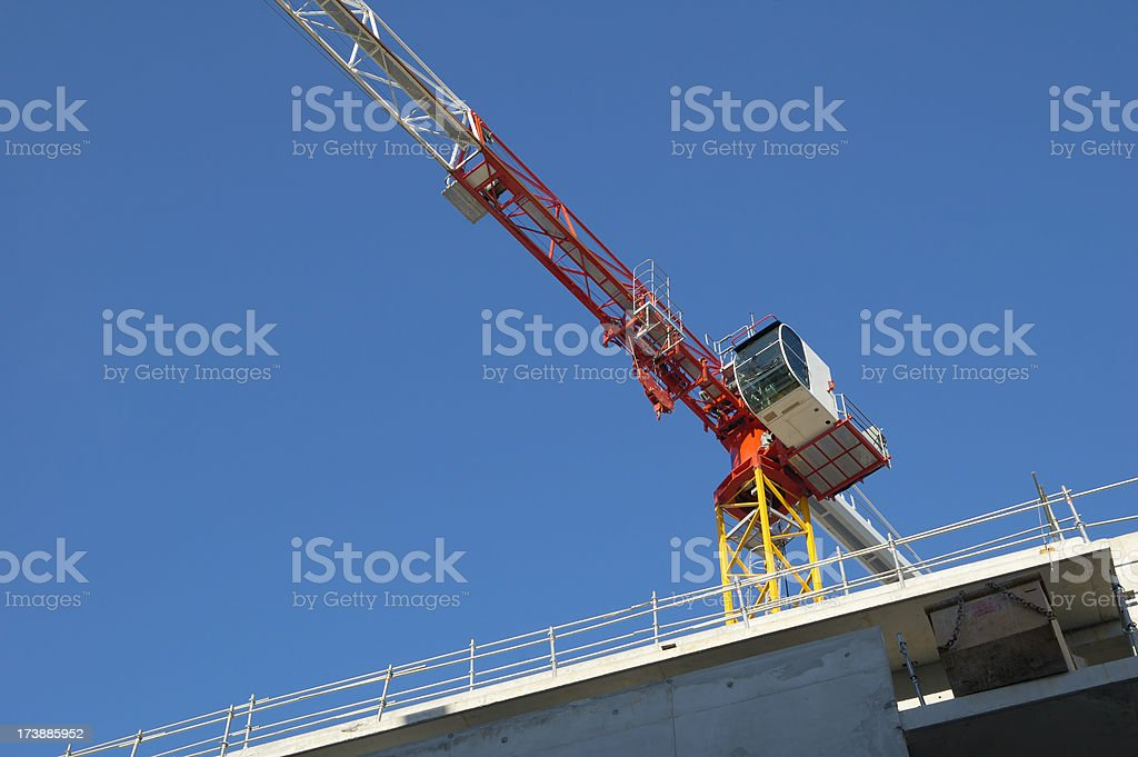 Tower Crane, Close View royalty-free stock photo