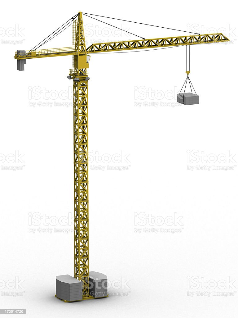 Tower crane (3D) stock photo