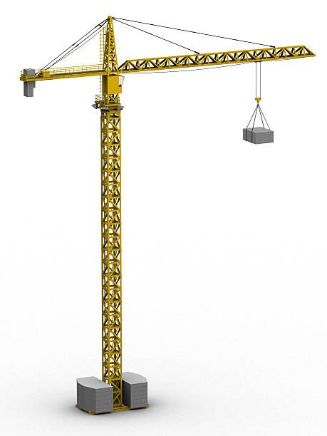 Tower crane (3D) stock photo