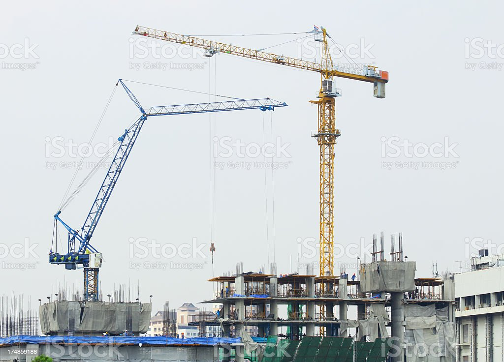 Tower crane royalty-free stock photo