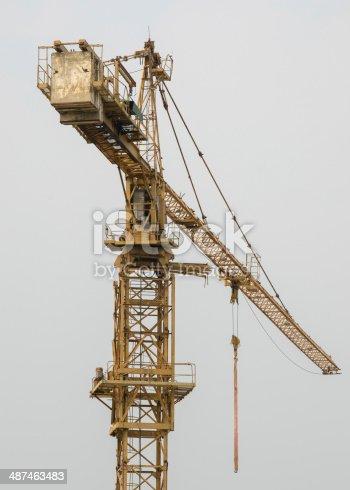 istock Tower crane 487463483