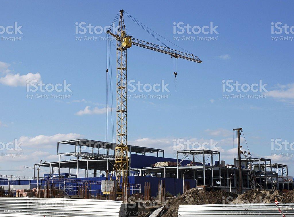 Torre de la grulla foto de stock libre de derechos